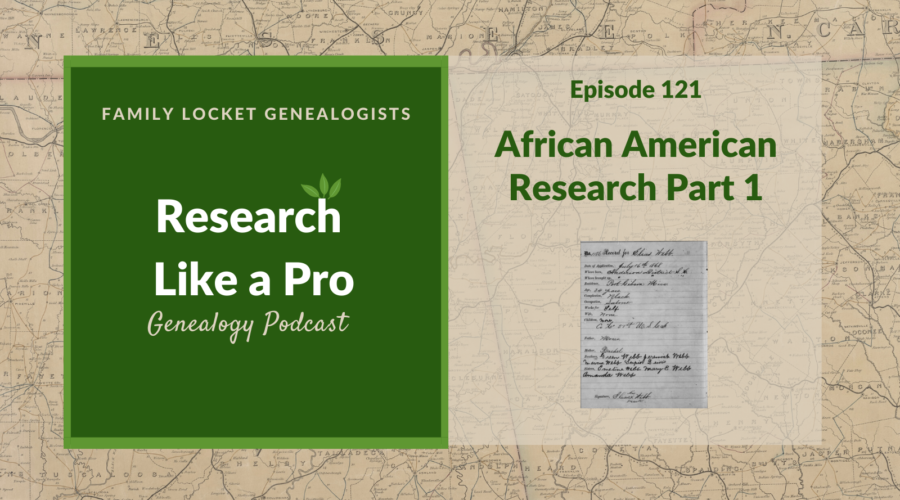 RLP 121: African American Research Part 1
