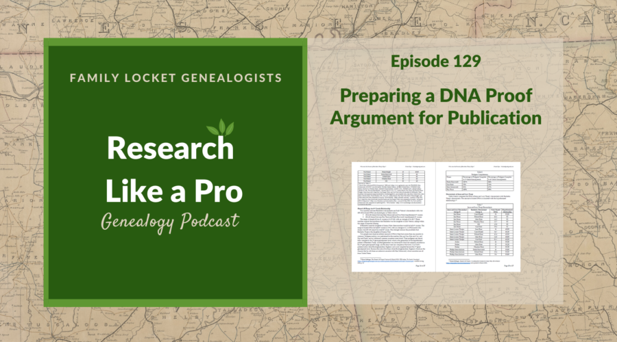 RLP 129: Preparing a DNA Proof Argument for Publication