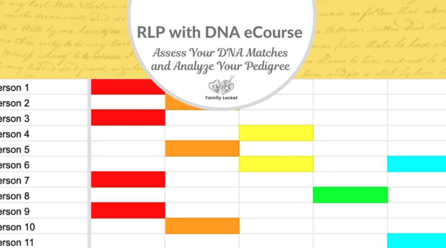 RLP DNA e-course: Assess Your DNA Matches and Analyze Your Pedigree